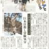 北海道新聞にコラム「アウトドアで行こう」掲載 ご近所スノーハイク:巨木目指し冒険気分