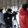 冬の仕事人、テレビ撮影